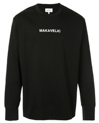 Sudadera estampada negra de Makavelic