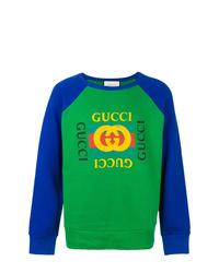 Sudadera estampada verde de Gucci