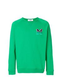 Sudadera estampada verde de MSGM
