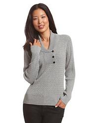 Suéter con cuello chal
