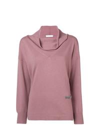 Suéter con cuello chal rosado de Fabiana Filippi