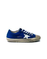 Tenis de ante azul marino de Golden Goose Deluxe Brand