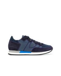 Tenis de ante azul marino de Philippe Model