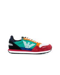 Tenis de ante en multicolor de Emporio Armani