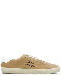 Tenis de ante marrón claro de Saint Laurent