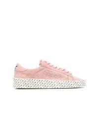 Tenis de ante rosados de Golden Goose Deluxe Brand