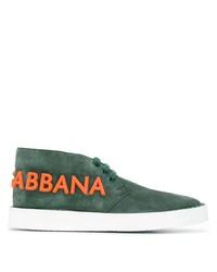 Tenis de ante verde oscuro de Dolce & Gabbana