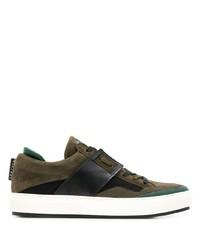 Tenis de ante verde oscuro de Leather Crown