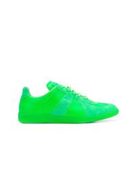 Tenis de ante verdes de Maison Margiela