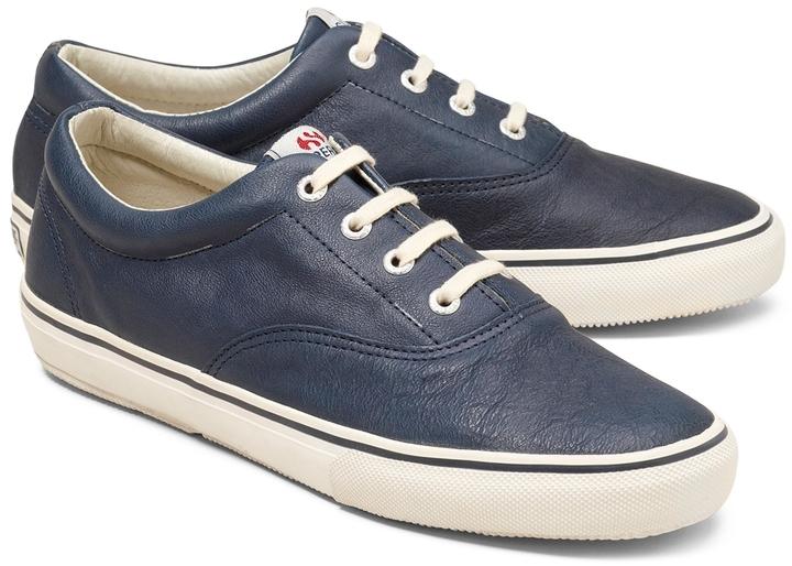 Superga Sneakers - Cuero - Azul Colecciones de descuento Pagar con Paypal en línea Compre Auténtico en línea Barato Descuento Auténtico Mejores precios de liquidación Vd4tSaVx