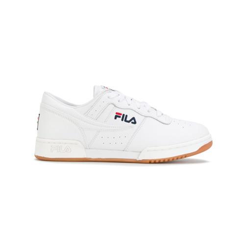 10245a77eff ... Tenis de cuero blancos de Fila ...