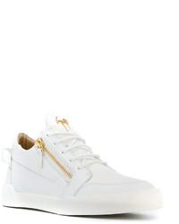 Tenis de cuero blancos de Giuseppe Zanotti Design