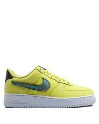 Tenis de cuero en amarillo verdoso de Nike