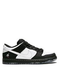 Tenis de cuero en blanco y negro de Nike