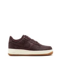 Tenis de cuero en marrón oscuro de Nike