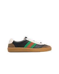 Tenis de cuero en multicolor de Gucci