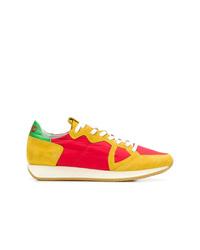Tenis de cuero en multicolor de Philippe Model