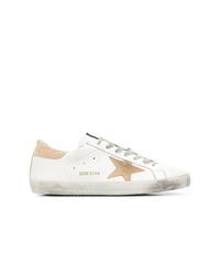 Tenis de cuero estampados blancos de Golden Goose Deluxe Brand