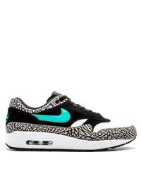 Tenis de cuero estampados en blanco y negro de Nike