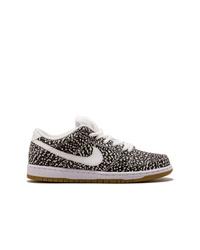 Tenis de cuero estampados en negro y blanco de Nike