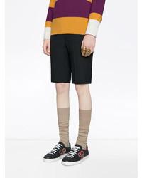 b11651b7e6 Tenis de cuero estampados negros de Gucci, MEX$14,154 | farfetch.com ...