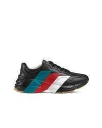 5bbd22475d Comprar unas zapatillas de cuero negras Gucci | Moda para Hombres ...