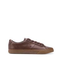 Tenis de cuero marrónes de Polo Ralph Lauren