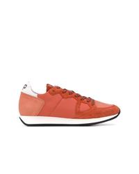 Tenis de cuero naranjas de Philippe Model