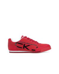 Tenis de cuero rojos de Calvin Klein Jeans
