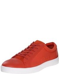 Tenis de cuero rojos de Calvin Klein