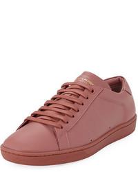 Tenis de cuero rosa