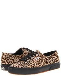 Tenis de leopardo marrón claro