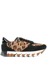 Tenis de leopardo marrón claro de Dolce & Gabbana