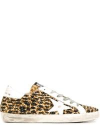 Tenis de leopardo marrón claro de Golden Goose Deluxe Brand