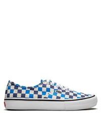 Tenis de lona a cuadros azules de Vans