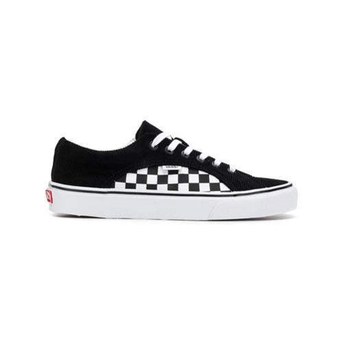 96ce797437 ... Tenis de lona a cuadros en negro y blanco de Vans ...