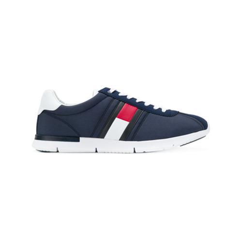 9d754b85bca ... Tenis de lona azul marino de Tommy Hilfiger ...
