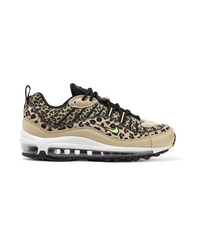Tenis de lona de leopardo marrón claro