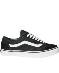zapatillas vans negras con raya blanca