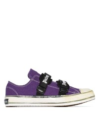Tenis de lona en violeta de Palm Angels