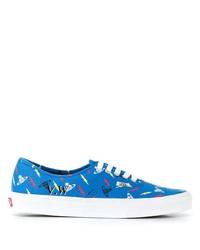 Tenis de lona estampados azules de Vans