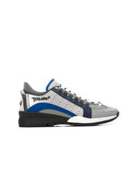 Tenis de lona grises de DSQUARED2