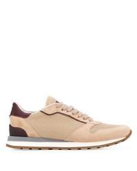 Tenis de lona marrón claro de Brunello Cucinelli