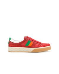 10cb61ab4 Comprar unos tenis rojos Gucci | Moda para Hombres | Lookastic México