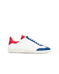 Tenis en blanco y rojo y azul marino de Isabel Marant