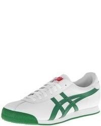 Tenis en blanco y verde