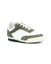 Tenis en blanco y verde de Comme Des Garcons SHIRT