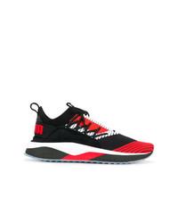 Tenis en rojo y negro de Puma