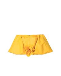 Top con hombros descubiertos amarillo de Bambah