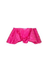 Top con hombros descubiertos con print de flores rosa de Bambah